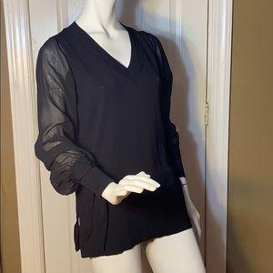 Top shop Sheer Sleeve Tunic
